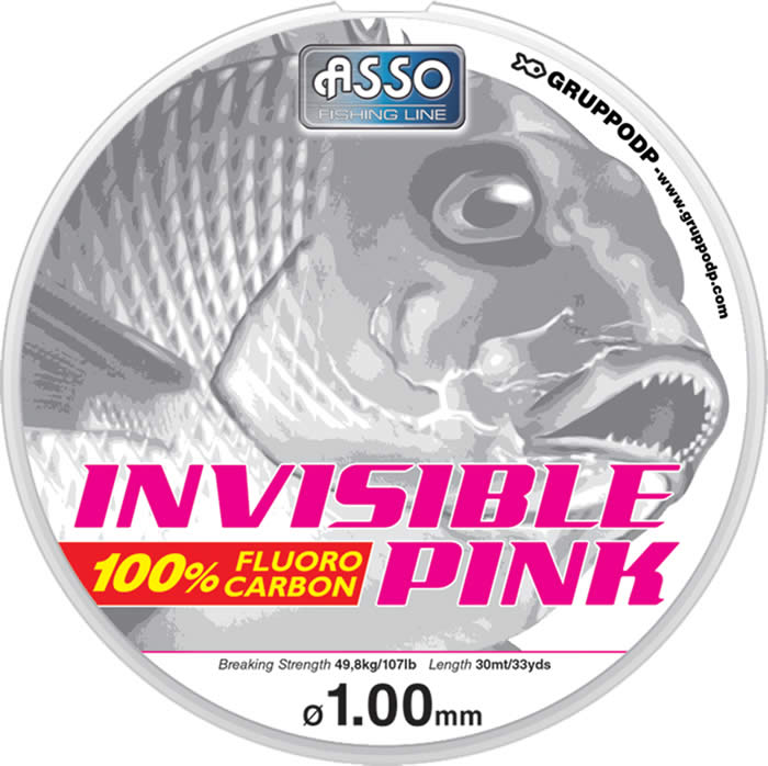 asso product asso invisible pink fluorocarbon fishing