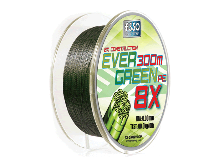 Asso Evergreen 8 strand braid fishing line